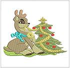 Christmas little deer set 3