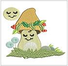 Happy Li'l Mushrooms set 2