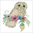 Jacobean Owls set 3