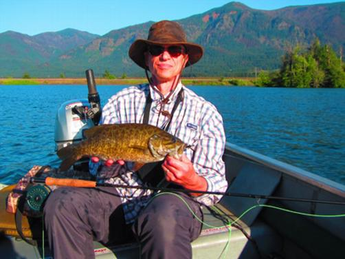 "Bill Thayer a piggie, 19"" smallmouth fly fishing the Columbia River!"